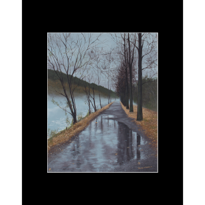 "Fine art matted print of Timothy Stanford's original acrylic painting ""Dreary Path"""
