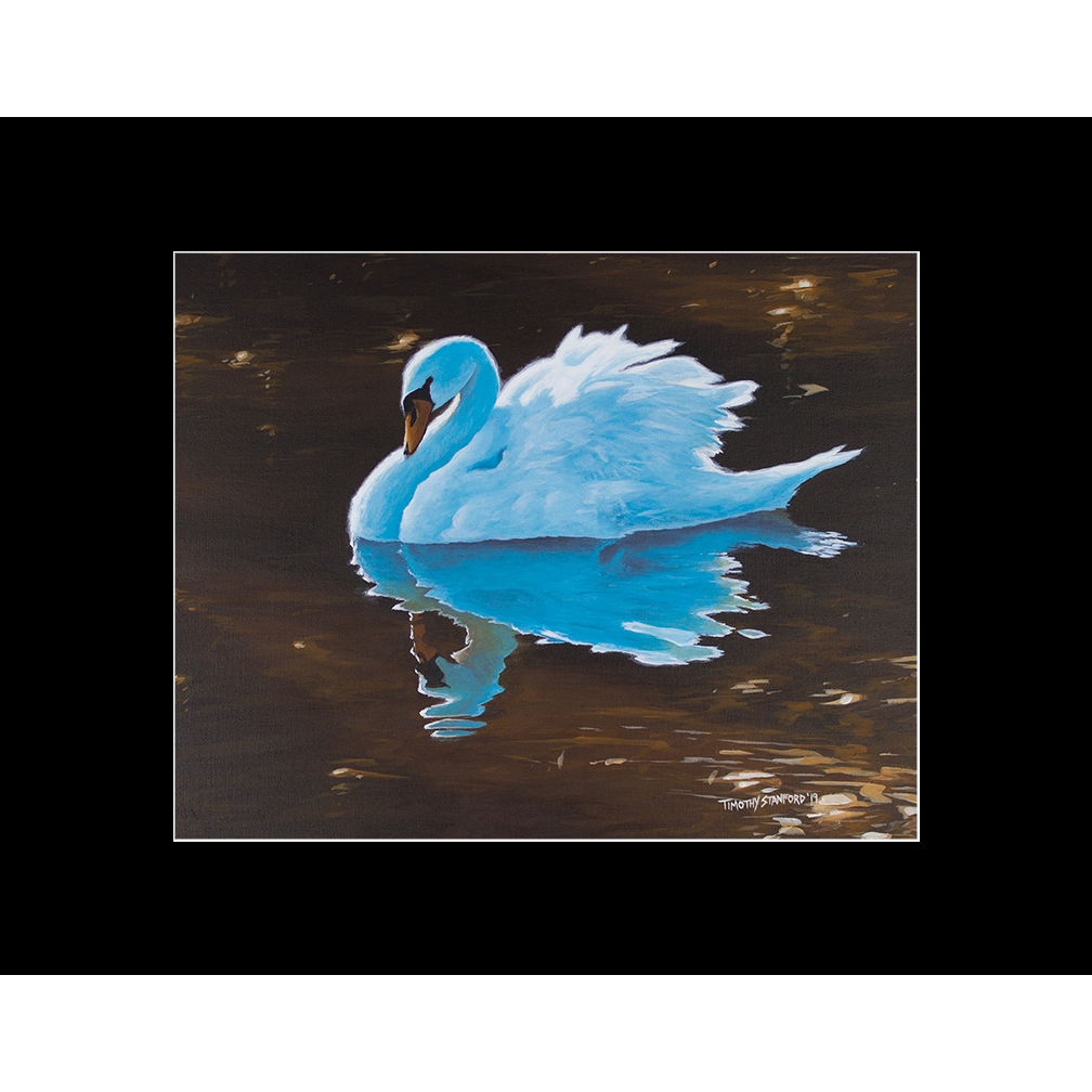 """Fine art matted print of Timothy Stanford's original acrylic painting """"Reflecting Grace"""""""