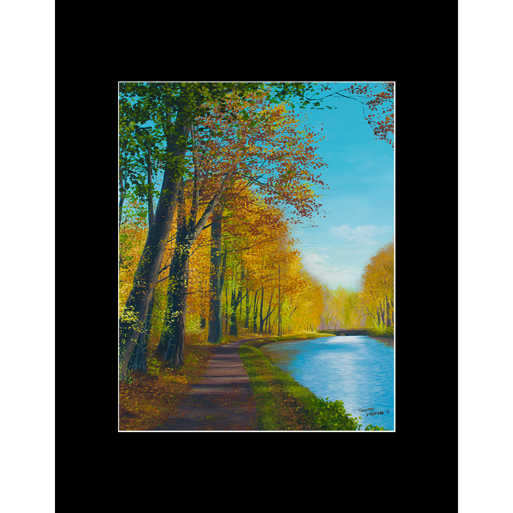 """Fine art matted print of Timothy Stanford's original acrylic painting """"Jubilant Path"""""""