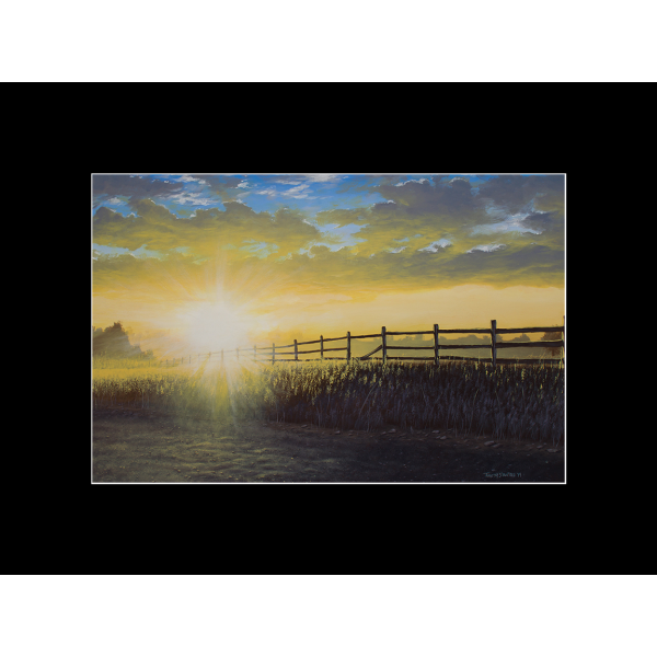 "Fine art matted print of Timothy Stanford's original acrylic painting ""Perceiving Light"""