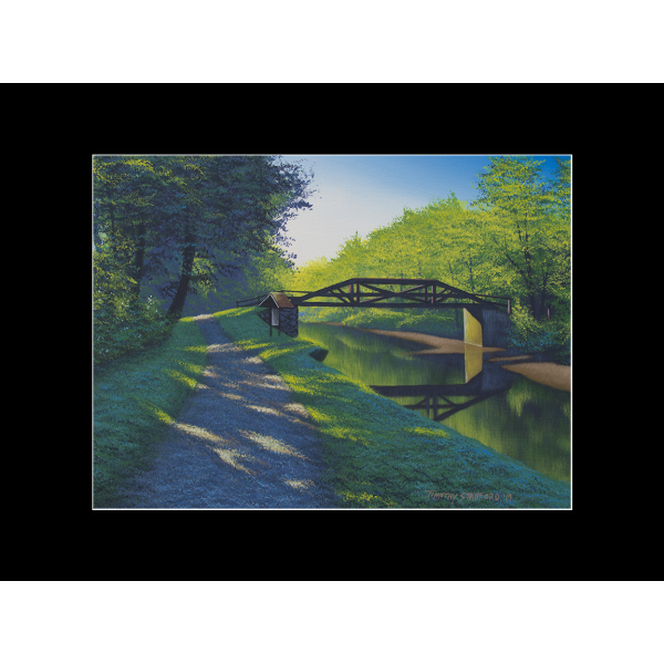 """Fine art matted print of Timothy Stanford's original acrylic painting """"First Light"""""""