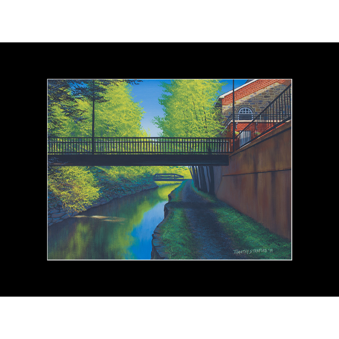 """Fine art matted print of Timothy Stanford's original acrylic painting """"North to New Hope"""""""