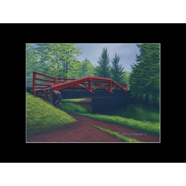 "Fine art matted print of Timothy Stanford's original acrylic painting ""The Crossing"""