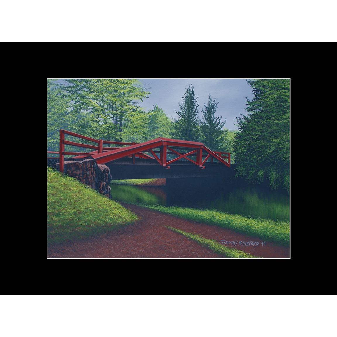 """Fine art matted print of Timothy Stanford's original acrylic painting """"The Crossing"""""""
