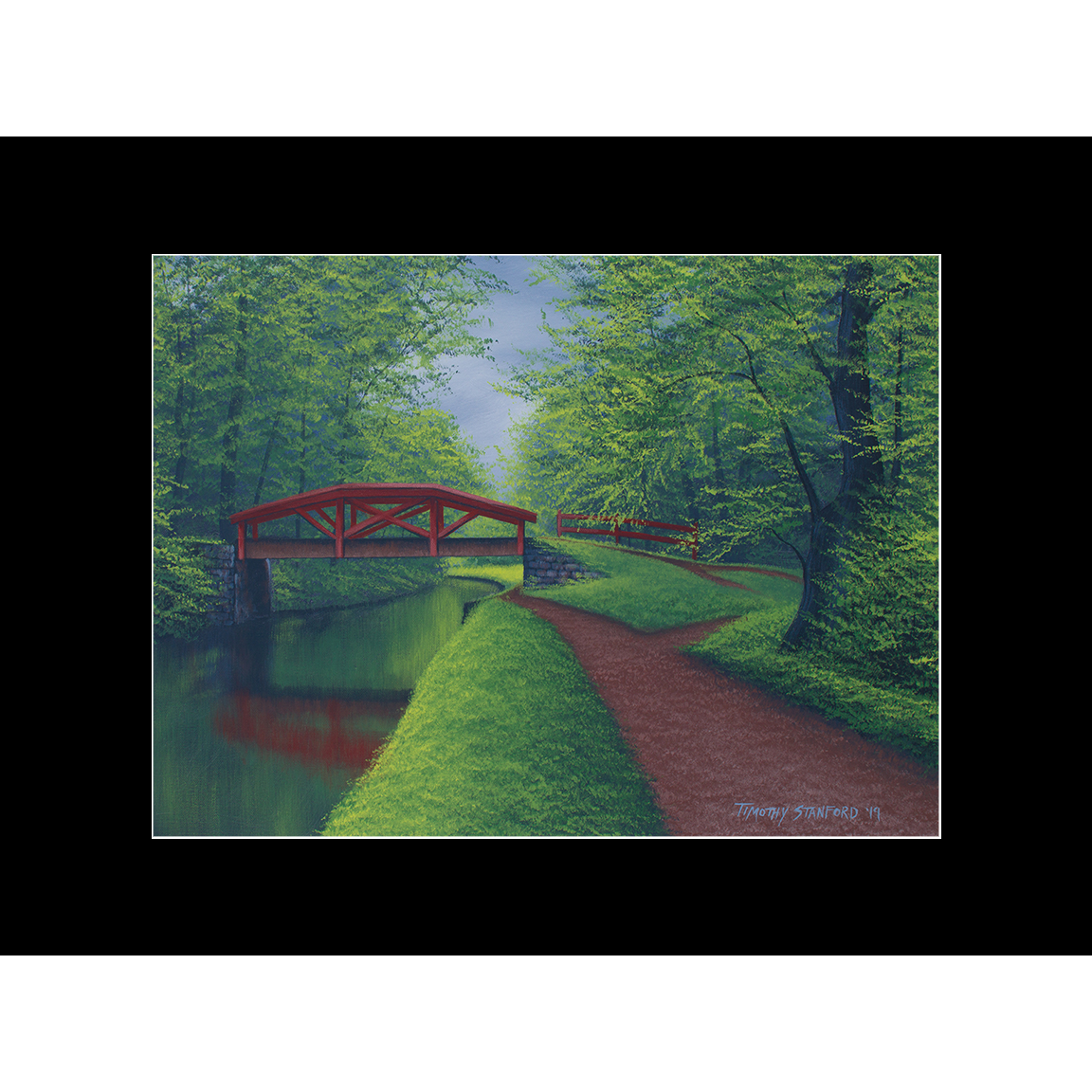 """Fine art matted print of Timothy Stanford's original acrylic painting """"Fresh After Rain"""""""