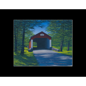 "Fine art matted print of Timothy Stanford's original acrylic painting ""Shade at Cabin Run"""