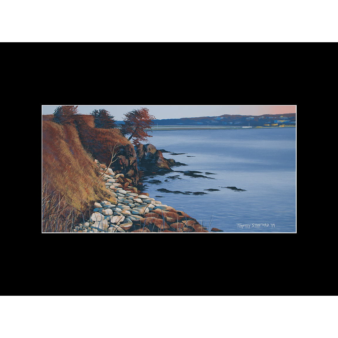 """Fine art matted print of Timothy Stanford's original acrylic painting """"Cliff Walk Dawn"""""""