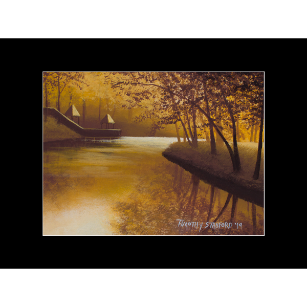 "Fine art matted print of Timothy Stanford's original acrylic painting ""Bending Light Study"""
