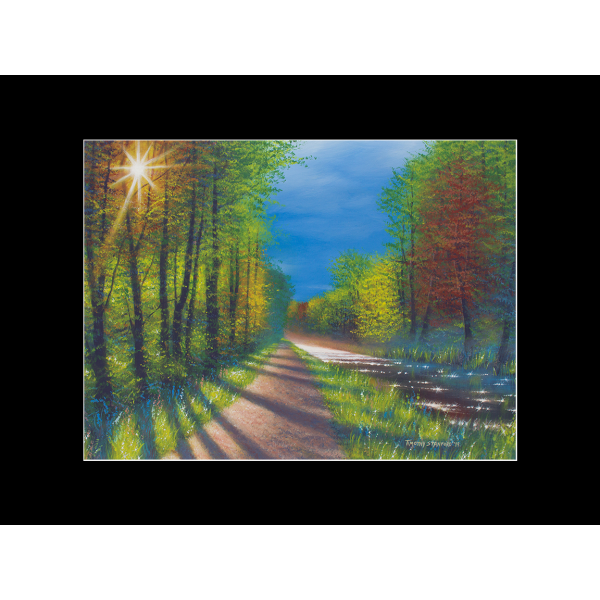 "Fine art matted print of Timothy Stanford's original acrylic painting ""Radiant Path"""
