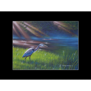 "Fine art matted print of Timothy Stanford's original acrylic painting ""Rise and Shine"""