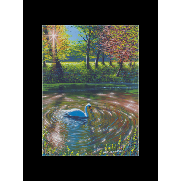 """Fine art matted print of Timothy Stanford's original acrylic painting """"Abounding Grace"""""""
