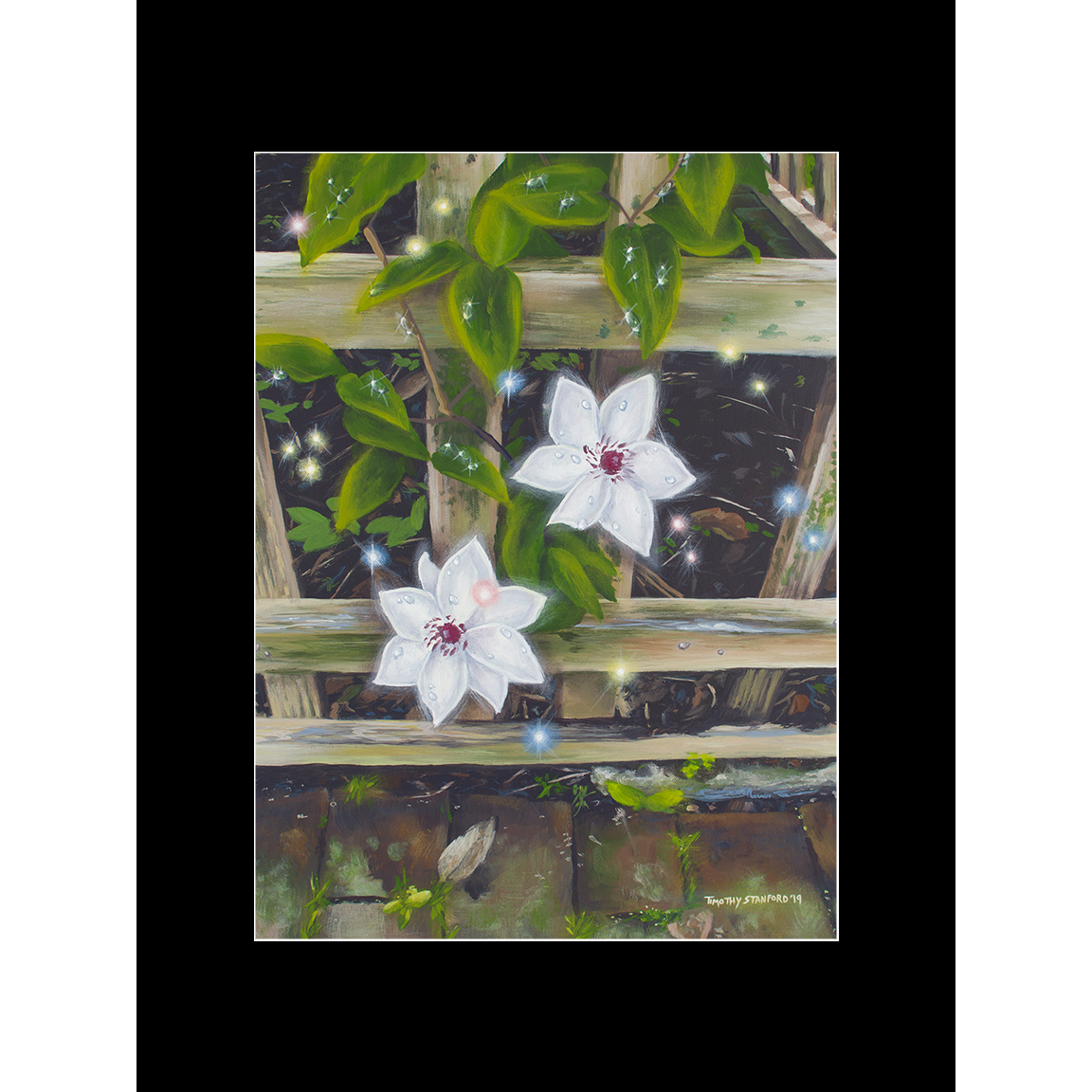 """Fine art matted print of Timothy Stanford's original acrylic painting """"Magic in the Mundane"""""""