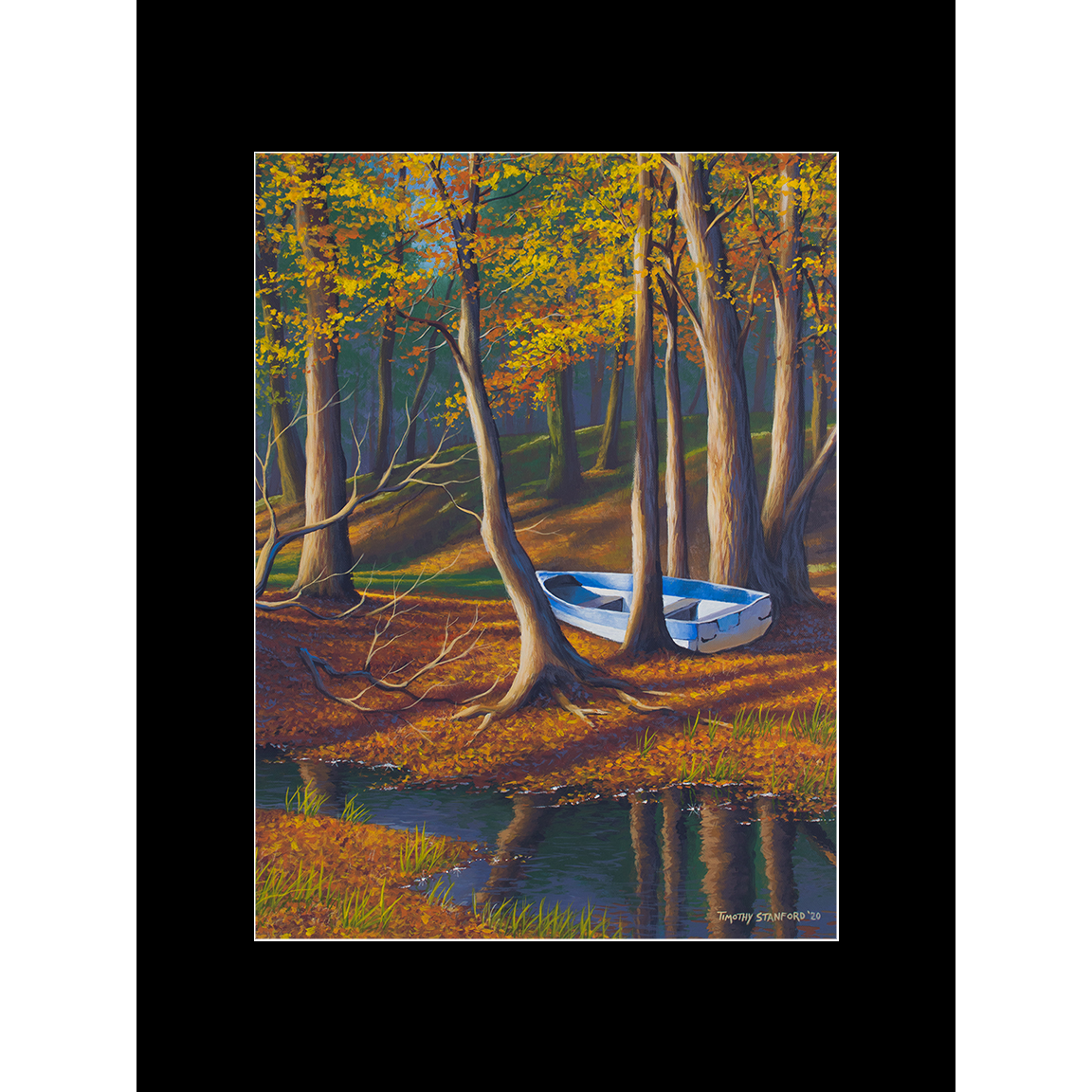 "Fine art matted print of Timothy Stanford's original acrylic painting ""Marooned"""