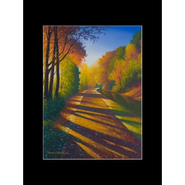 "Fine art matted print of Timothy Stanford's original acrylic painting ""Gilded Path"""
