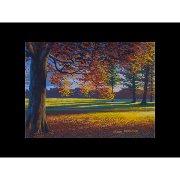 "Fine art matted print of Timothy Stanford's original acrylic painting ""Autumn Splendor"""