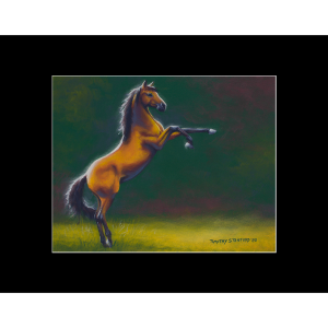 """Fine art matted print of Timothy Stanford's original acrylic painting """"In the Limelight"""""""