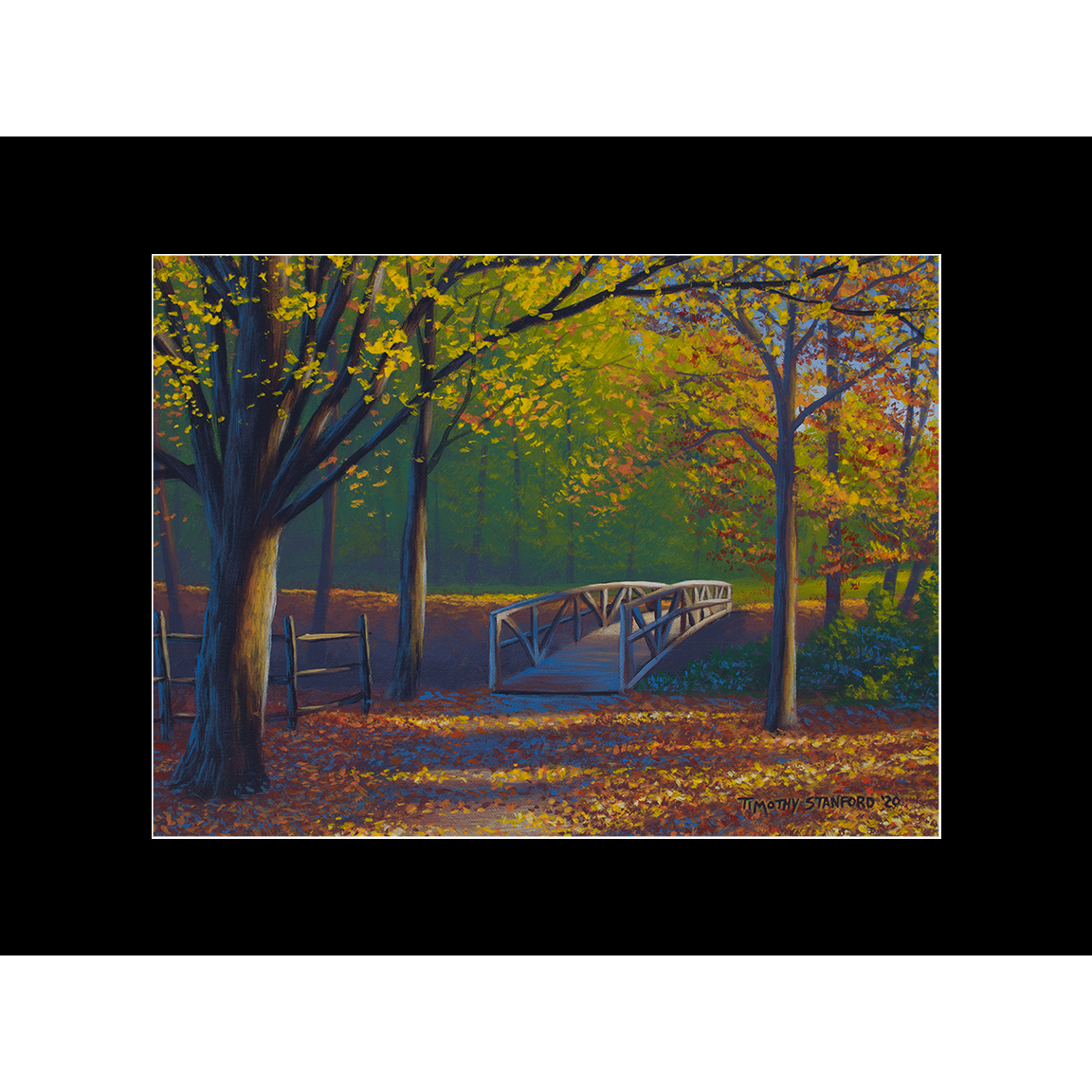 """Fine art matted print of Timothy Stanford's original acrylic painting """"Bridge of Promise"""""""