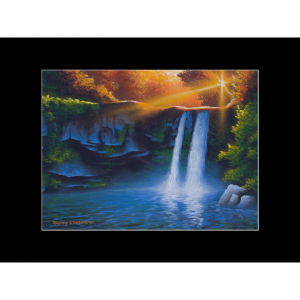 "Fine art matted print of Timothy Stanford's original acrylic painting ""Evening Falls"""