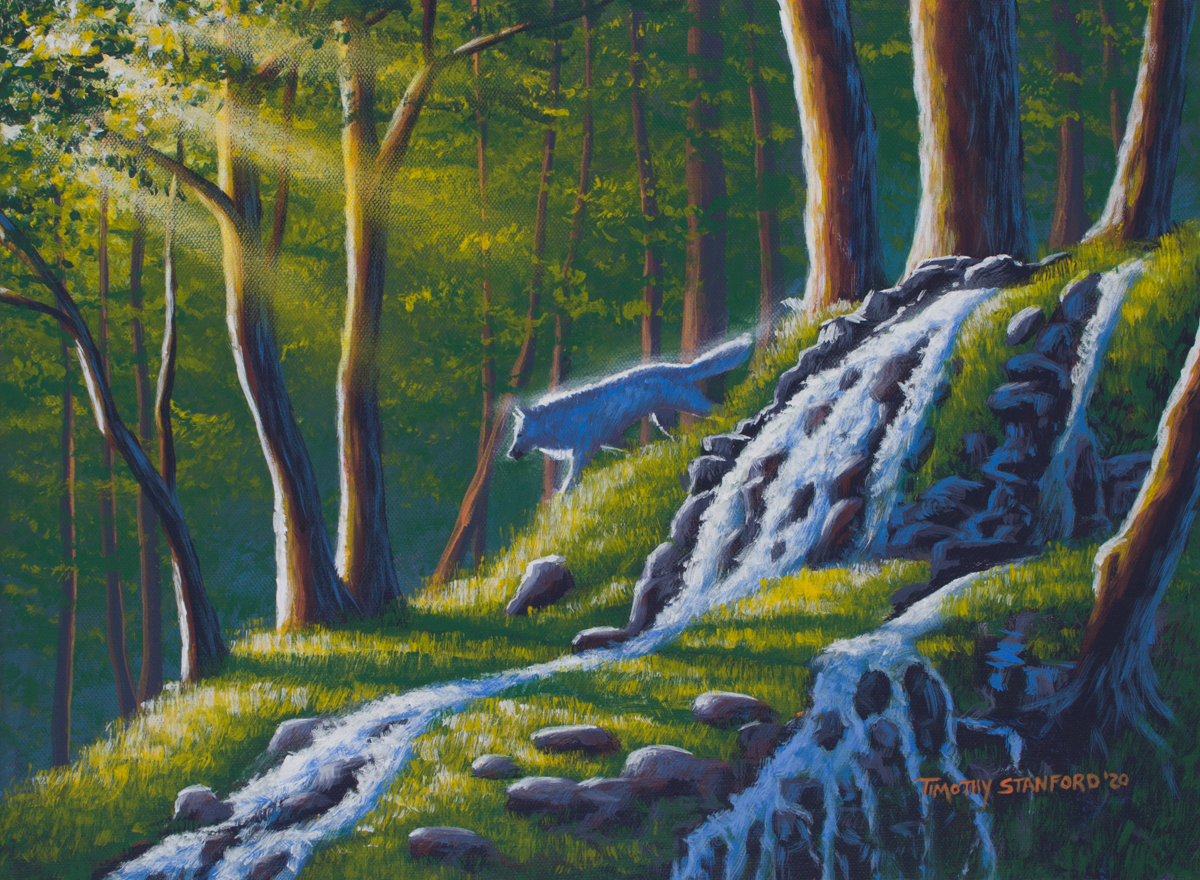 Acrylic landscape painting of