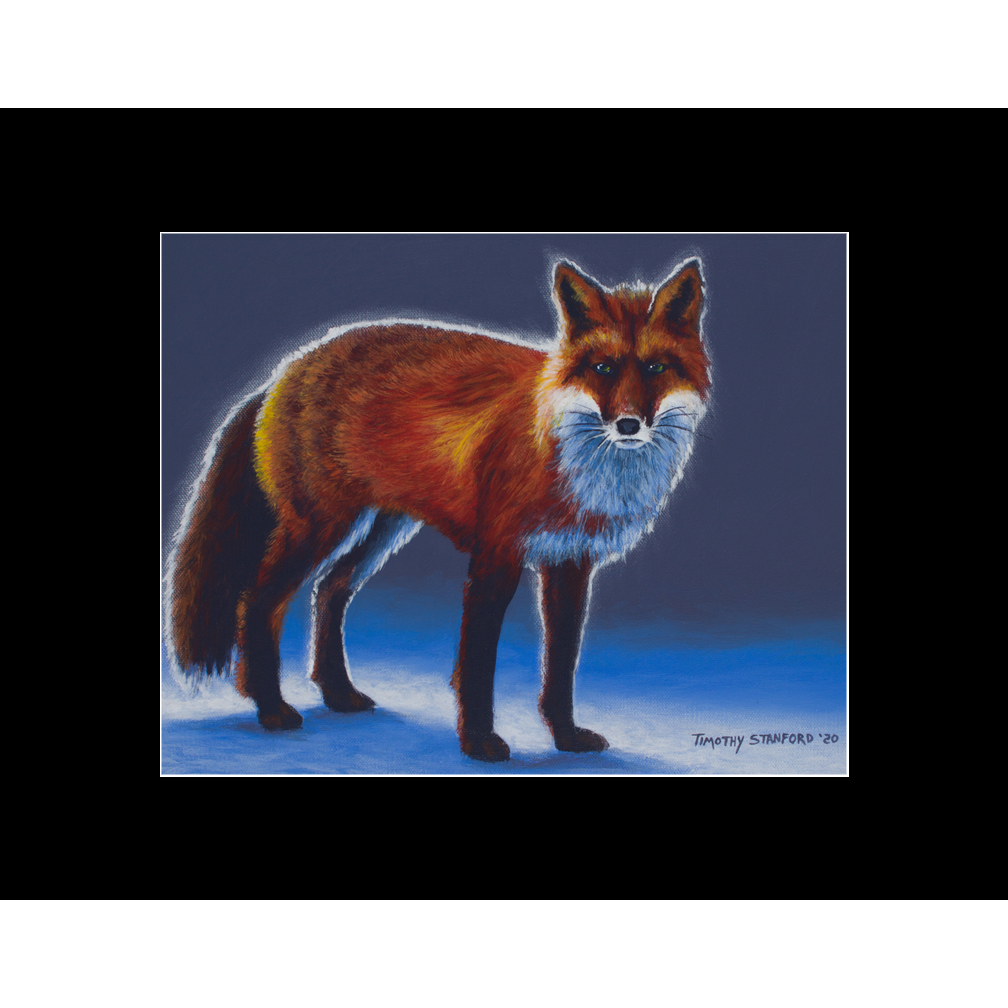 """Fine art matted print of Timothy Stanford's original acrylic painting """"Chickenhound"""""""
