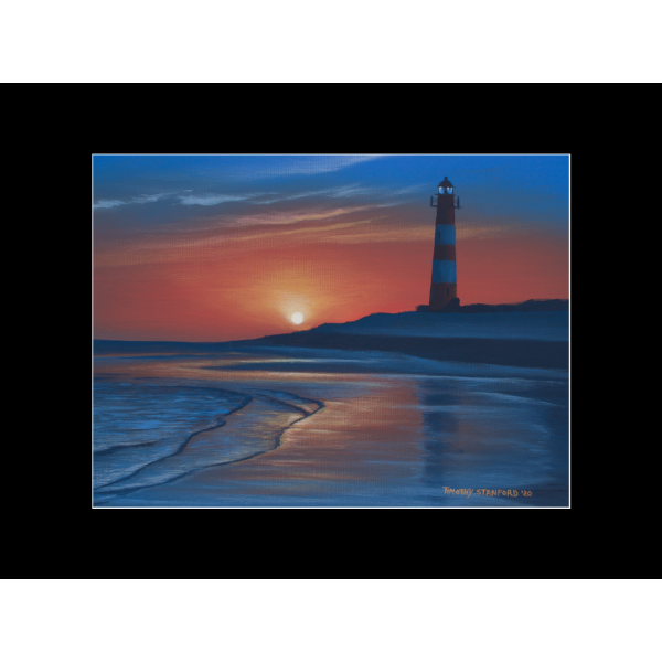 """Fine art matted print of Timothy Stanford's original acrylic painting """"Morning Watch"""""""
