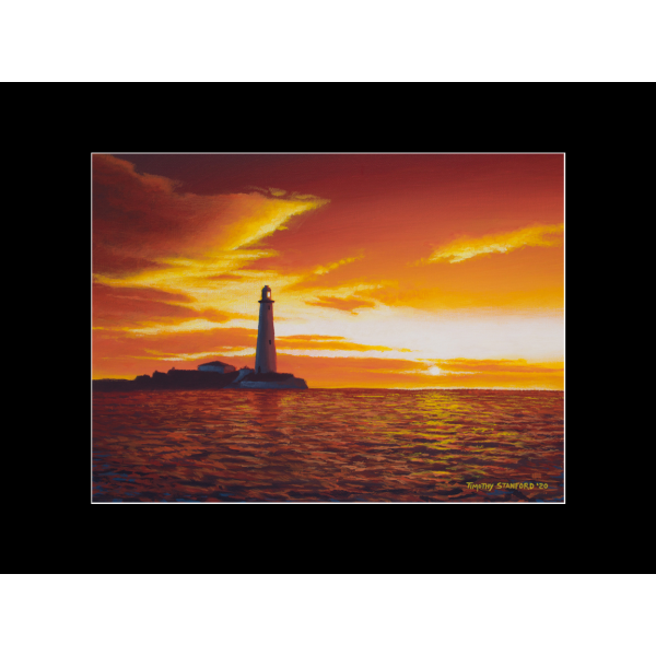 "Fine art matted print of Timothy Stanford's original acrylic painting ""Evening Watch"""