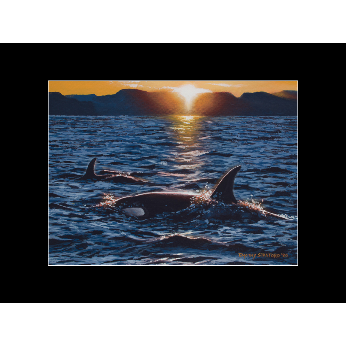 """Fine art matted print of Timothy Stanford's original acrylic painting """"Across the Sea"""""""