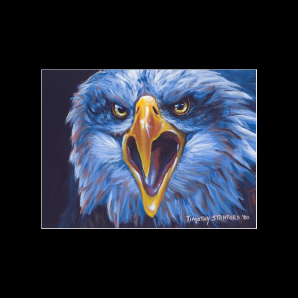 "Fine art matted print of Timothy Stanford's original acrylic painting ""Savage Predator"""