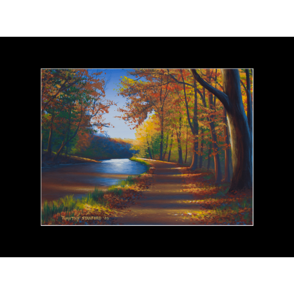"Fine art matted print of Timothy Stanford's original acrylic painting ""Brilliant Path"""
