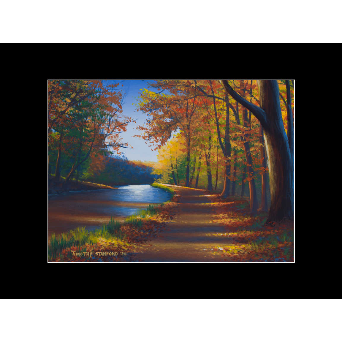 """Fine art matted print of Timothy Stanford's original acrylic painting """"Brilliant Path"""""""