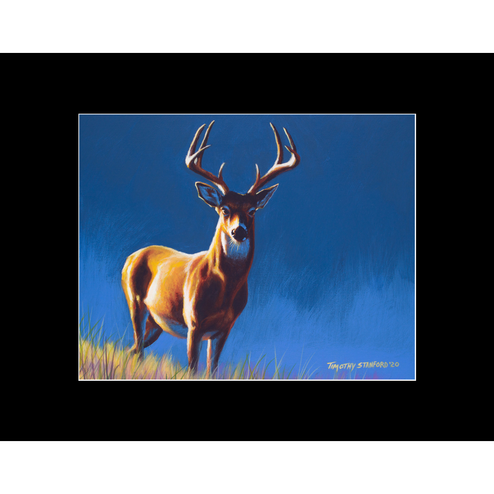 """Fine art matted print of Timothy Stanford's original acrylic painting """"A Quick Buck"""""""