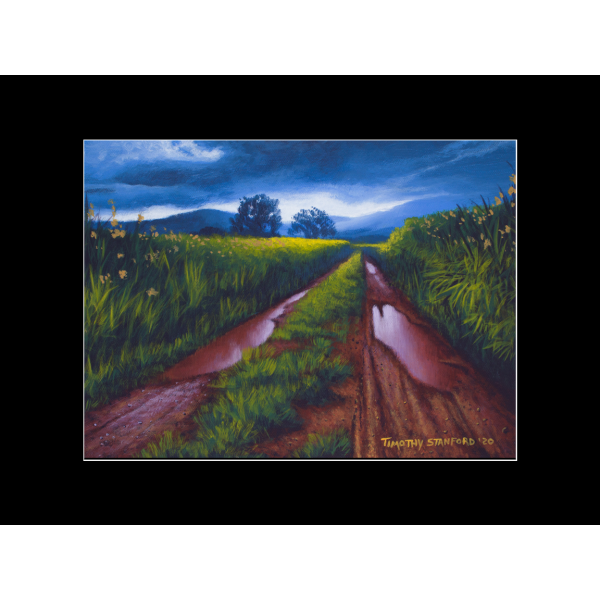 "Fine art matted print of Timothy Stanford's original acrylic painting ""After the Storm"""