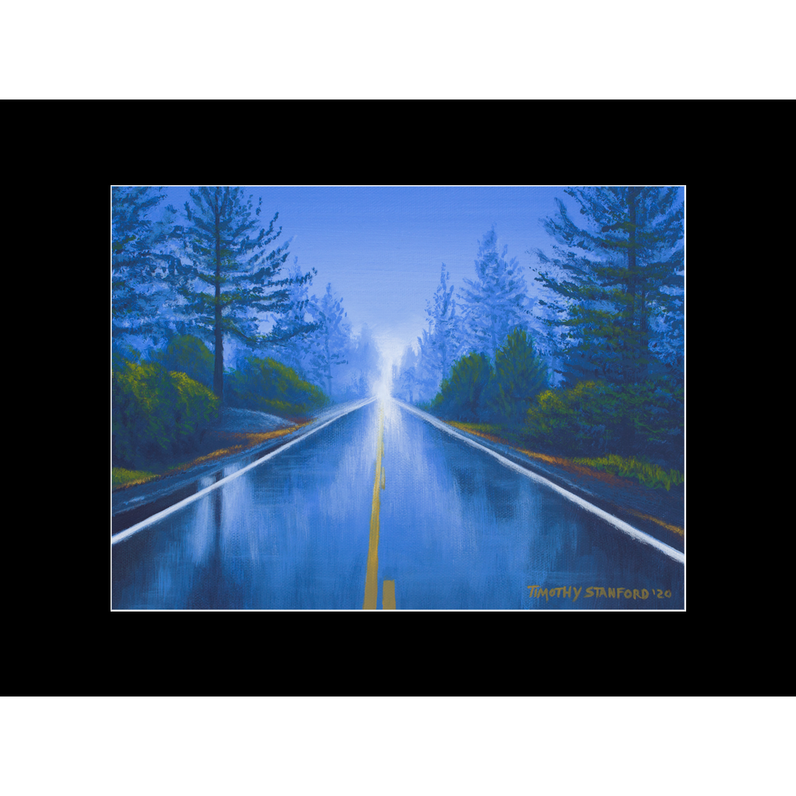 """Fine art matted print of Timothy Stanford's original acrylic painting """"117"""""""