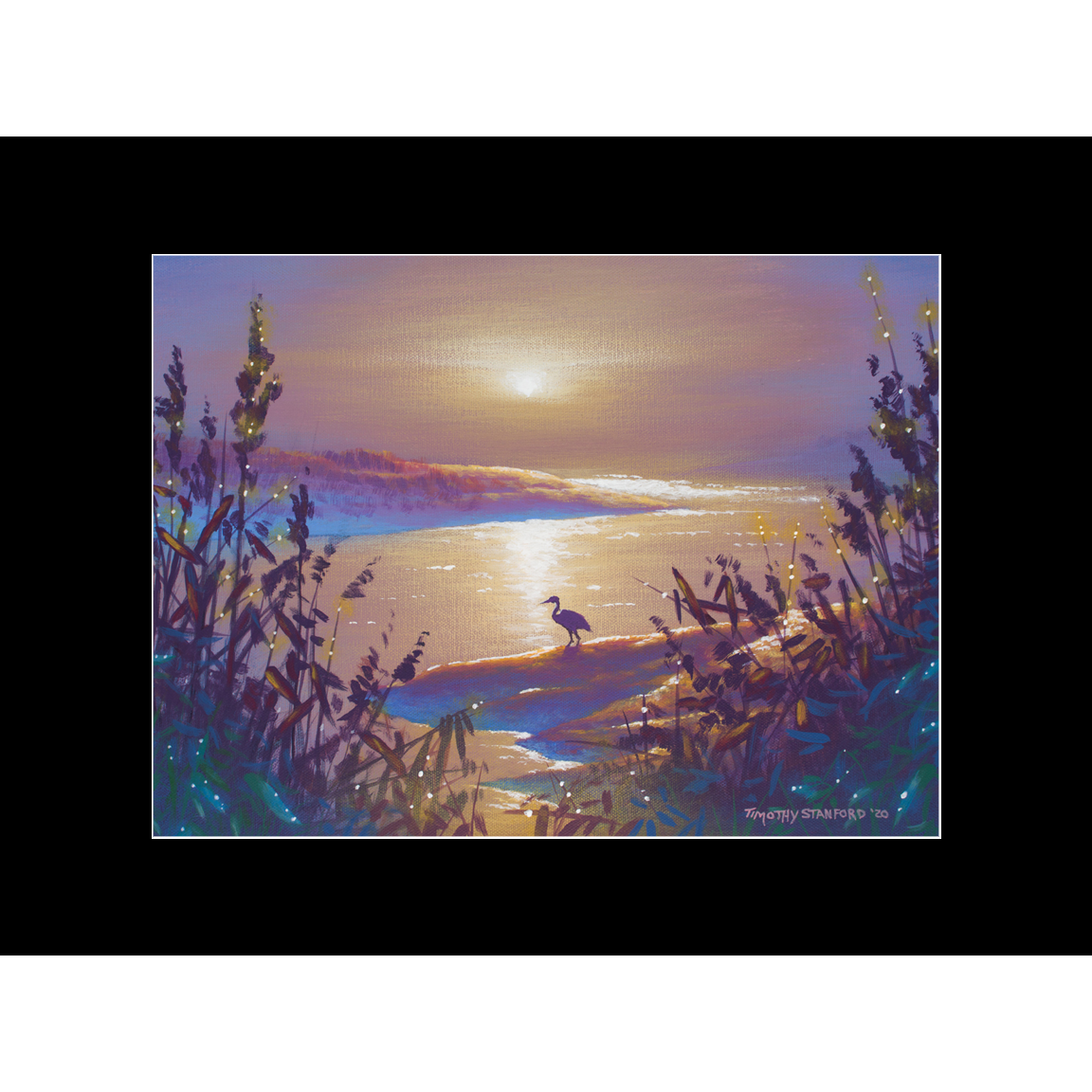 """Fine art matted print of Timothy Stanford's original acrylic painting """"Out of the Mist"""""""