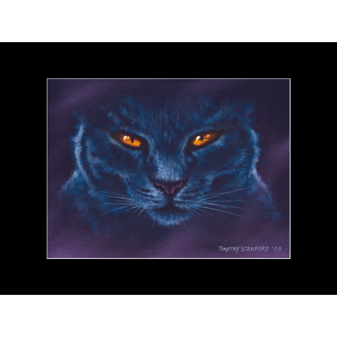 "Fine art matted print of Timothy Stanford's original acrylic painting ""Black Magic"""