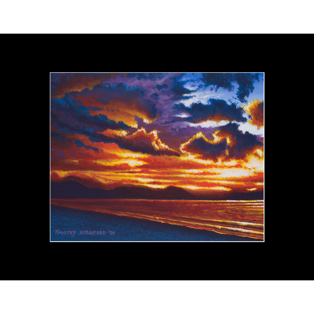 "Fine art matted print of Timothy Stanford's original acrylic painting ""Oncoming Storm"""