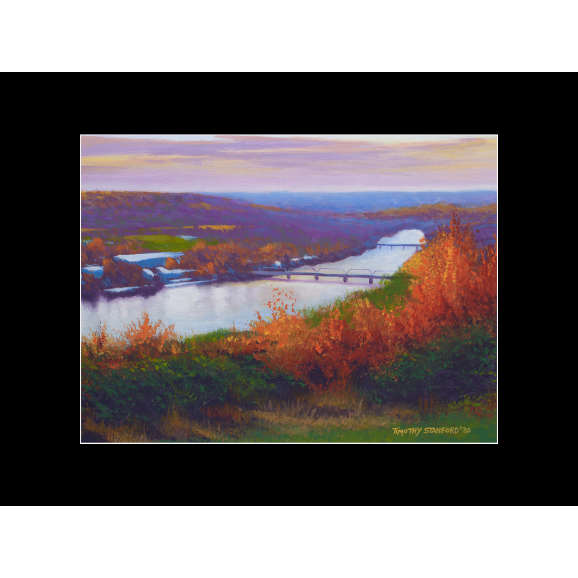 """Fine art matted print of Timothy Stanford's original acrylic painting """"Once Upon a November"""""""