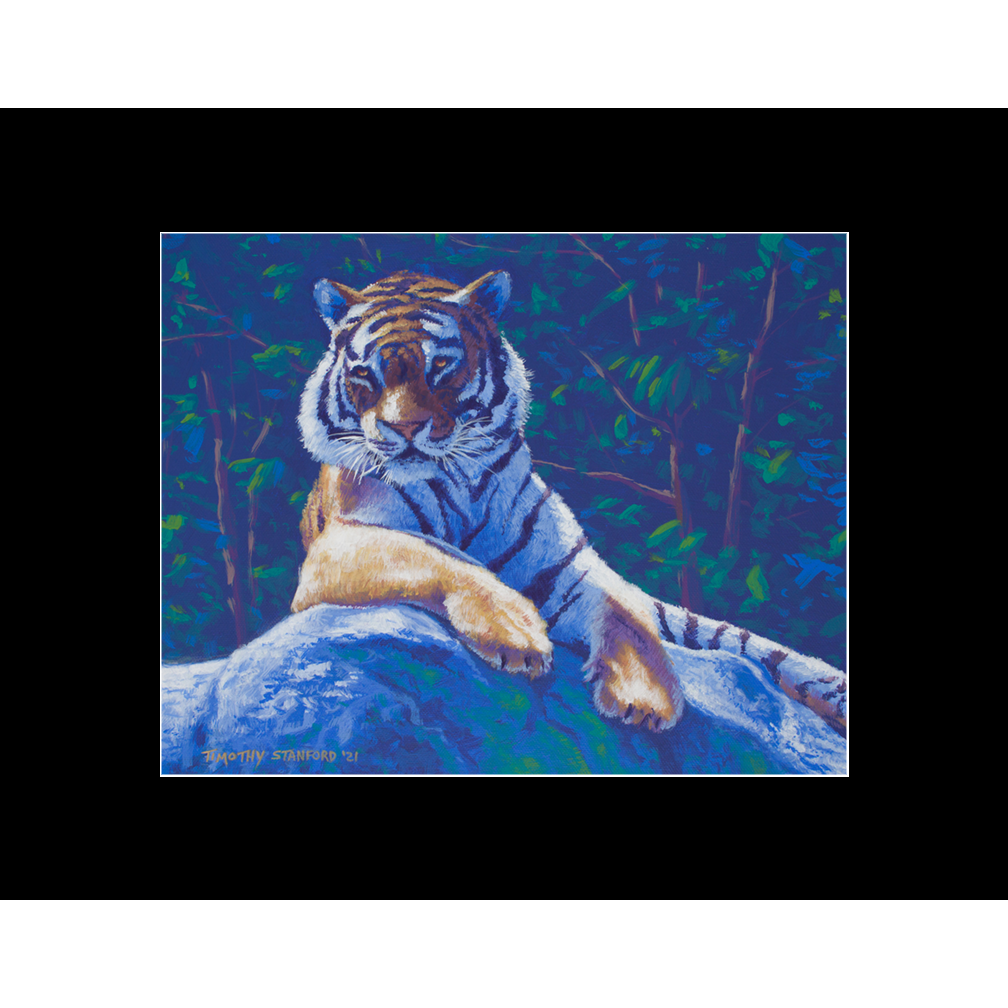 """Fine art matted print of Timothy Stanford's original acrylic painting """"Chillin'"""""""
