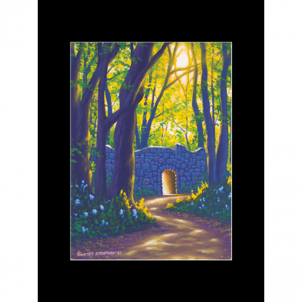 """Fine art matted print of Timothy Stanford's original acrylic painting """"A New Dawn"""""""