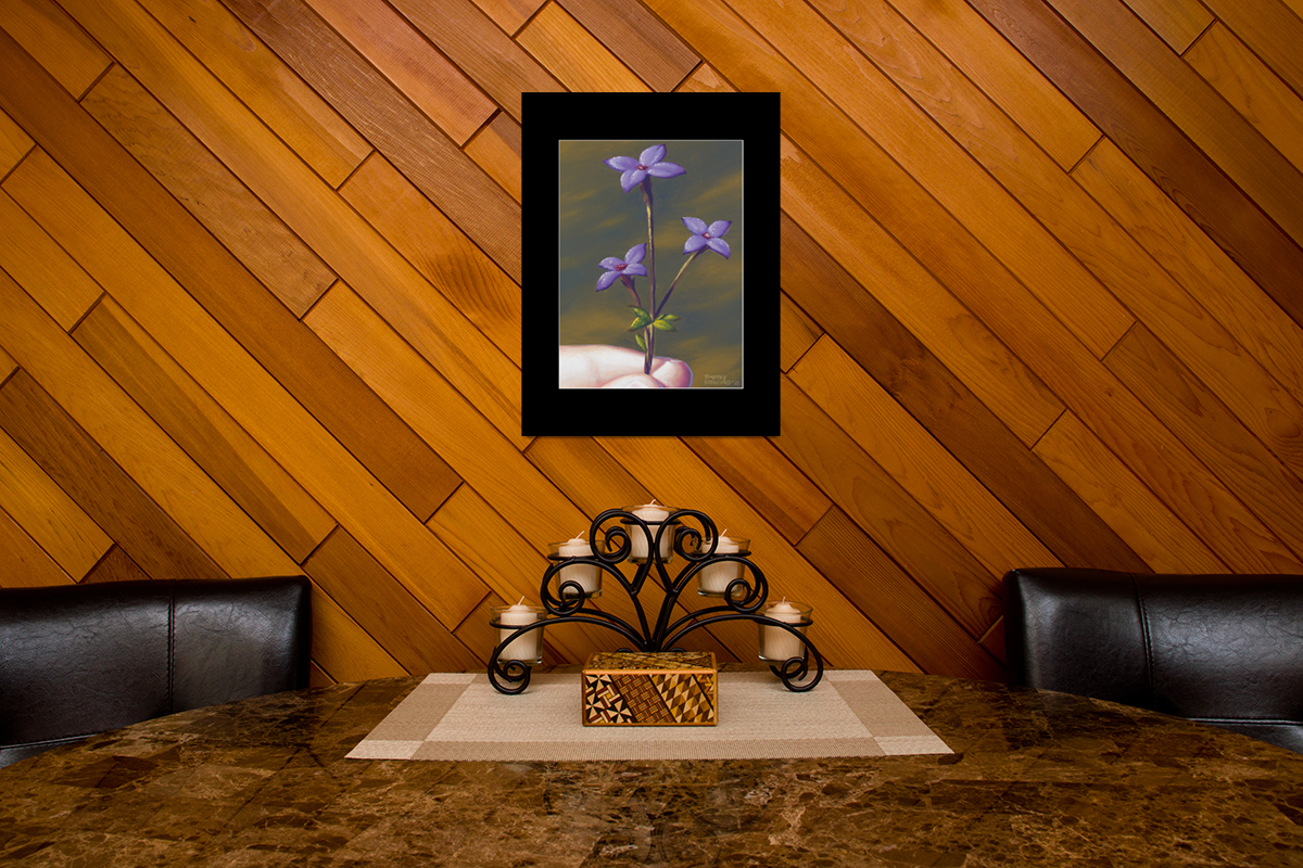 """Fine art matted print of Timothy Stanford's original acrylic painting """"A Touch of Spring"""""""