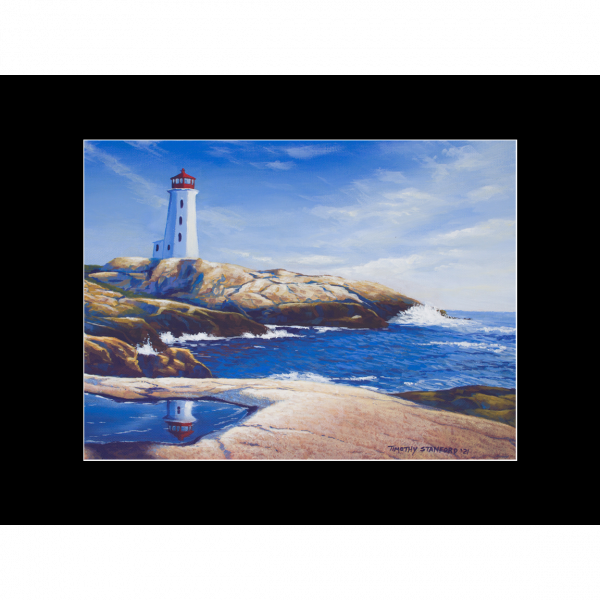 """Fine art matted print of Timothy Stanford's original acrylic painting """"Day Watch"""""""