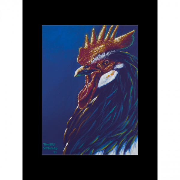 """Fine art matted print of Timothy Stanford's original acrylic painting """"Regal"""""""