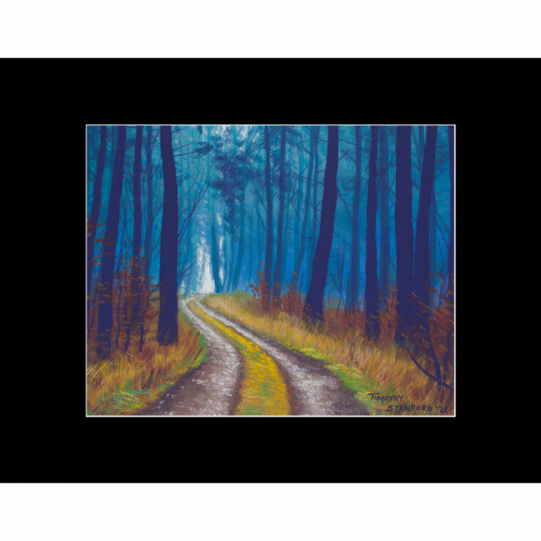 """Fine art matted print of Timothy Stanford's original acrylic painting """"Wander"""""""